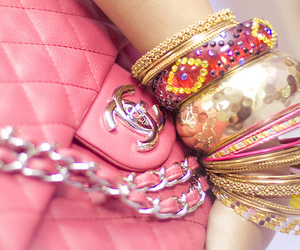 pink, chanel, and bracelet image