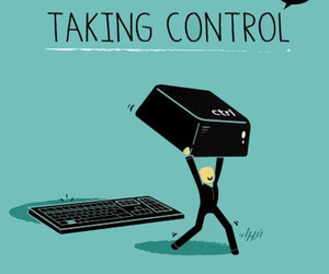 funny, control, and quote image