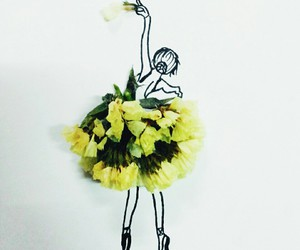 ballerina, ballet, and doodle image