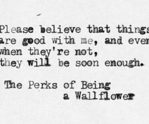 quote, the perks of being a wallflower, and charlie image