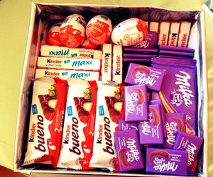 chocolate, milka, and kinder image