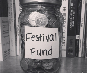 festival, money, and black and white image