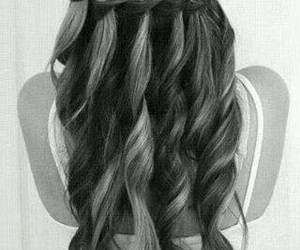 black and white, hair, and cute image