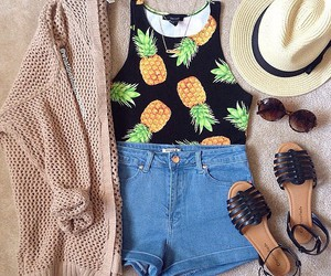 fashion, girl, and pineapple image