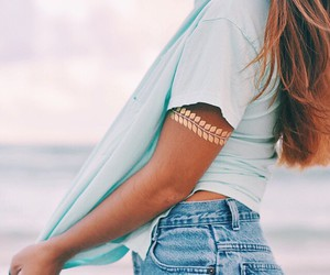 tattoo, beach, and fashion image