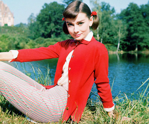 audrey hepburn and red image