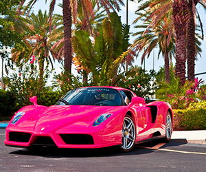 car, pink, and cool image
