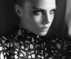 black & white, fashion, and cara delevingne image