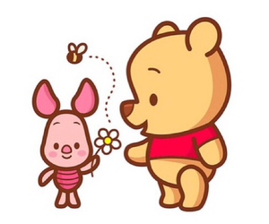 disney, piglet, and flowers image