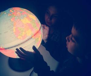 world, children, and globe image