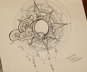 drawing and sun and moon image