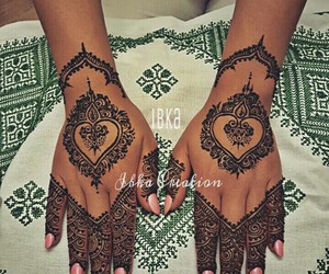 beautiful, henna, and bride image