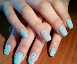 blue, light, and nails image