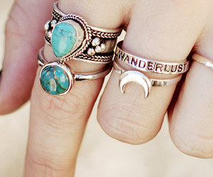 rings, jewelry, and wanderlust image