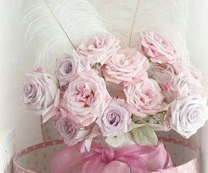 flowers, bouquet, and bow image