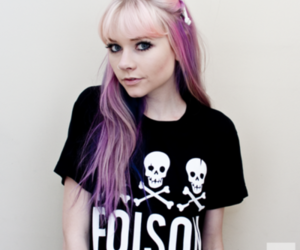 girl, pink hair, and pastel goth image