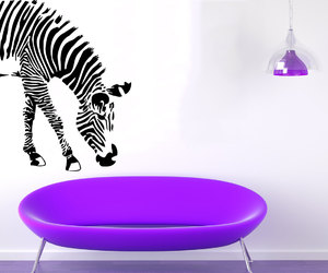 jungle, wall decals, and living room design image