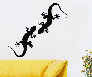 home decor, wall decals, and lizard image