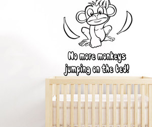 wall decals, nursery decor, and no more monkeys image
