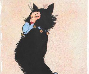 cat, art, and fashion image