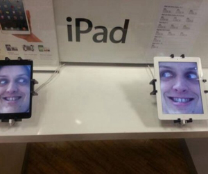 funny, ipad, and apple image
