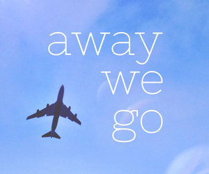 travel, away, and sky image