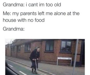 funny, grandma, and lol image
