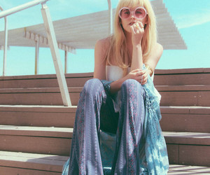 blond, cute girl, and fashion image