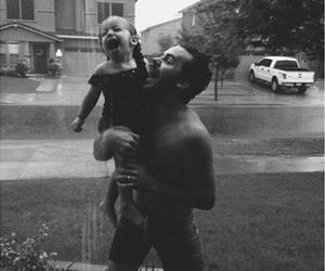 family, baby, and rain image