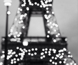paris, light, and eiffel tower image