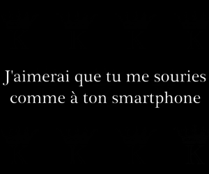 francais, smile, and smarthphone image