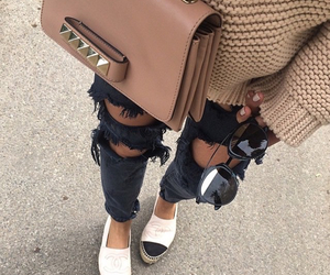 bag, jeans, and nails image