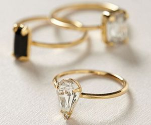 rings, gold, and black image