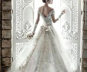 bride, beautiful, and dress image