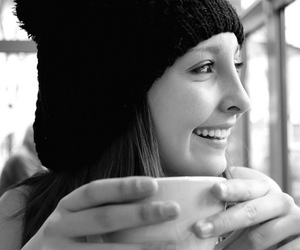 flickr, girl, and cup of coffee image