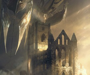 castle, fantasy, and steampunk image