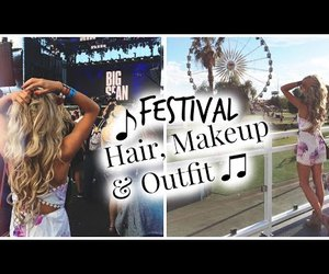 festival, hair, and makeup image