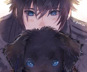 anime, boy, and dog image