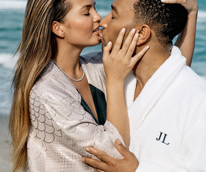 beach, couple, and john legend image