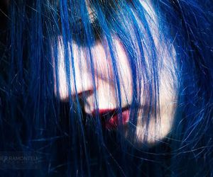 blue, colored hair, and girl image