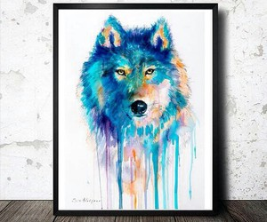 art and wolf image