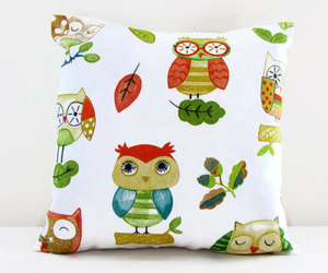 interior design, owl, and owl print image