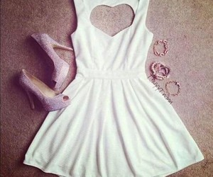 dress, heart, and high image