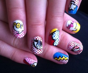 comics, nail art, and nails image