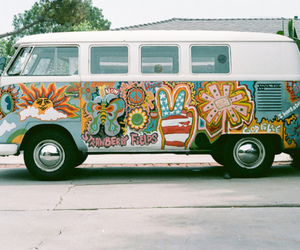 hippie, peace, and car image