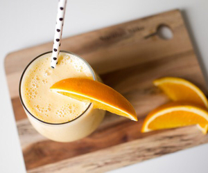 food, orange, and drink image