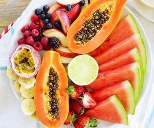 drink, snack, and fruit image