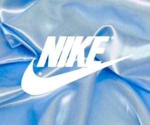 nike, blue, and Logo image
