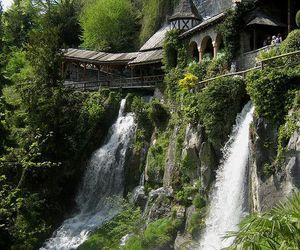 waterfall, switzerland, and nature image