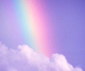rainbow, sky, and clouds image